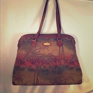 Handbags - Ricardo Beverly Hills travel tote carpet bag palms